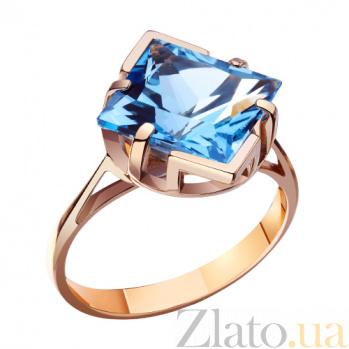 Золотое кольцо с топазом Небесный купол AUR--3129102