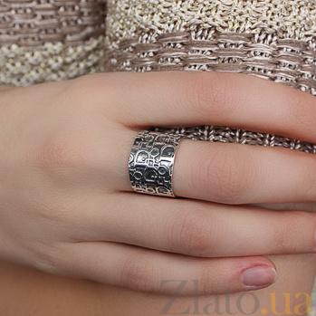 Кольцо из серебра Бренд 100298