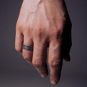 Каблучка зі срібла Frivolity з чорнінням 000091403