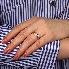 Кольцо в красном золоте Зарождение чувств с прозрачными фианитами