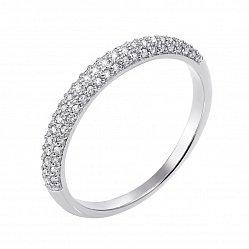 Кольцо из белого золота с бриллиантами 000133178