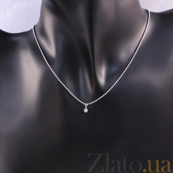 Кулон из белого золота с бриллиантом Княжна P0475/A03В01F02C01K02