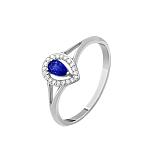 Золотое кольцо Карина с сапфиром и бриллиантами