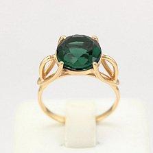 Золотое кольцо Саида с синтезированным аметистом