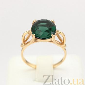 Золотое кольцо Саида с синтезированным аметистом VLN--112-1211-55