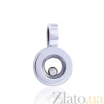 Золотой кулон Безупречное сияние с бриллиантом EDM--П7339/1