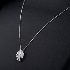 Серебряное колье Куколка с фианитами