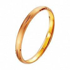 Золотое обручальное кольцо Вечная весна