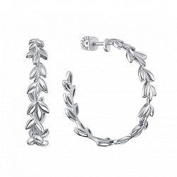 Серебряные серьги-кольца, 28мм 000132788