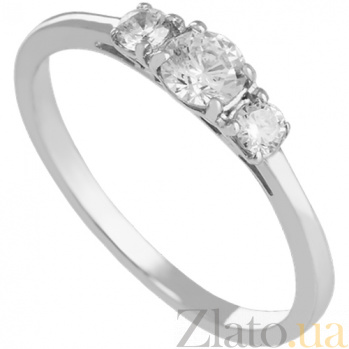 Кольцо из белого золота Амира с фианитами 000024355