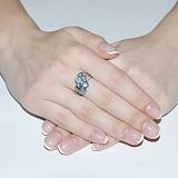 Серебряное кольцо с топазом Белинда
