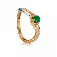 Золотое кольцо с изумрудом Бетани