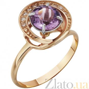 Золотое кольцо с аметистом Аурелия AUR--31711 05