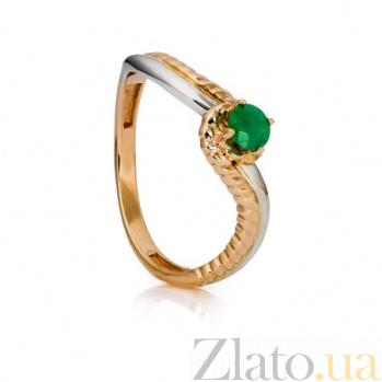 Золотое кольцо с изумрудом Бетани 000030153