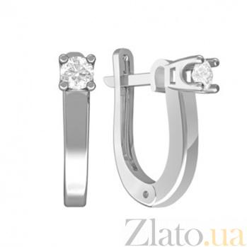 Золотые серьги с бриллиантами Веста KBL--С2590/бел/брил