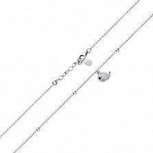 Серебряный браслет Чудо-Юдо с подвеской-рыбкой в фианитах и дополнительными звеньями