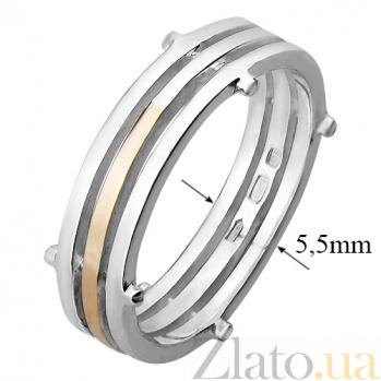 Серебряное кольцо с золотой вставкой Винслоу 000029487