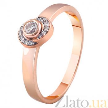 Золотое кольцо Благословение с бриллиантами KBL--К1856/крас/брил
