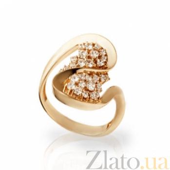 Золотое кольцо с цирконием Елена 000030592