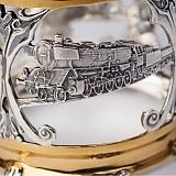 Серебряный подстаканник Железная дорога