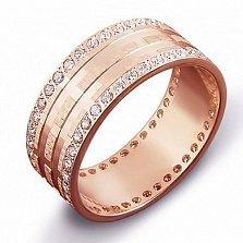 Золотое обручальное кольцо с фианитами Арлет