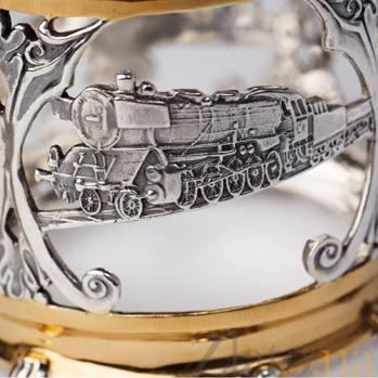 Серебряный подстаканник Железная дорога 803/к