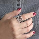 Серебряное кольцо Деви с фианитами