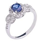 Золотое кольцо с сапфиром и бриллиантами Джинетта
