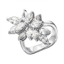 Кольцо из белого золота с бриллиантами 000136700