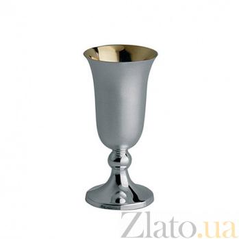 Серебряная рюмка Korpus на фигурной ножке с внутрененй позолотой, 35мл ZMX--2708_3703