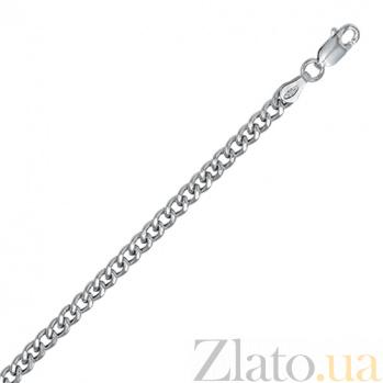 Серебряная цепь Арес с родированием, 3,5 мм, 50 см 000027616