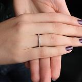 Серебряное кольцо на фалангу с фианитами Рассвет