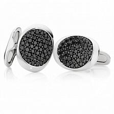 Запонки Argile-F с черными бриллиантами