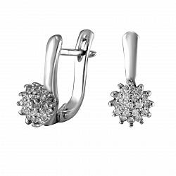 Серьги из белого золота Франсуаза с бриллиантами