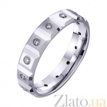 Обручальное кольцо из белого золота Страсть с фианитами TRF--422818