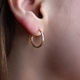 Серьги-кольца из красного золота Шакира,17мм