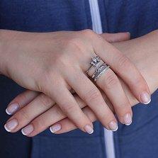 Серебряное кольцо-корона Queen с ажурной шинкой и цирконием