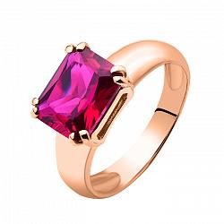 Кольцо из красного золота Леди Мармелад с рубином