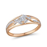 Кольцо из золота с бриллиантами Саммер