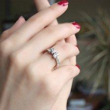 Кольцо из белого золота Мистраль с бриллиантами