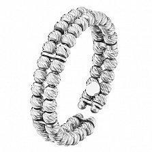 Золотое кольцо Бусины в белом цвете