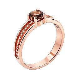 Кольцо из красного золота с раухтопазом 000133742