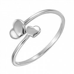 Серебряное разомкнутое кольцо 000134384