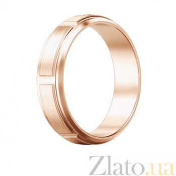 Мужское обручальное кольцо из розового золота с бриллиантом Немыслимая страсть  477