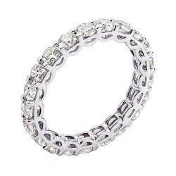 Кольцо из белого золота с бриллиантами и родированием 000131437