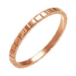 Обручальное кольцо Венера в красном золоте