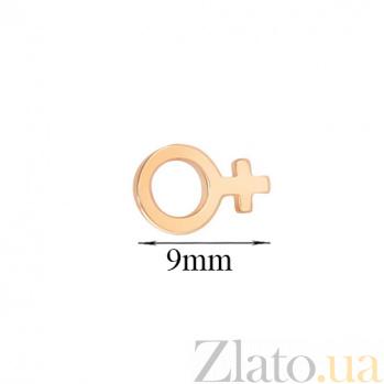 Серьга-гвоздик в одно ухо Женщина SVA--2501209101/Без вставки