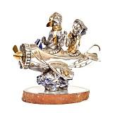 Серебряная статуэтка с позолотой Планер