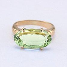 Золотое кольцо с зеленым аметистом Лауретта