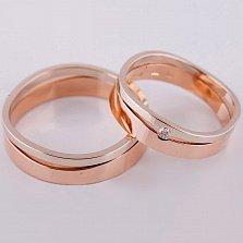 Золотое обручальное кольцо Лейден (мужское)